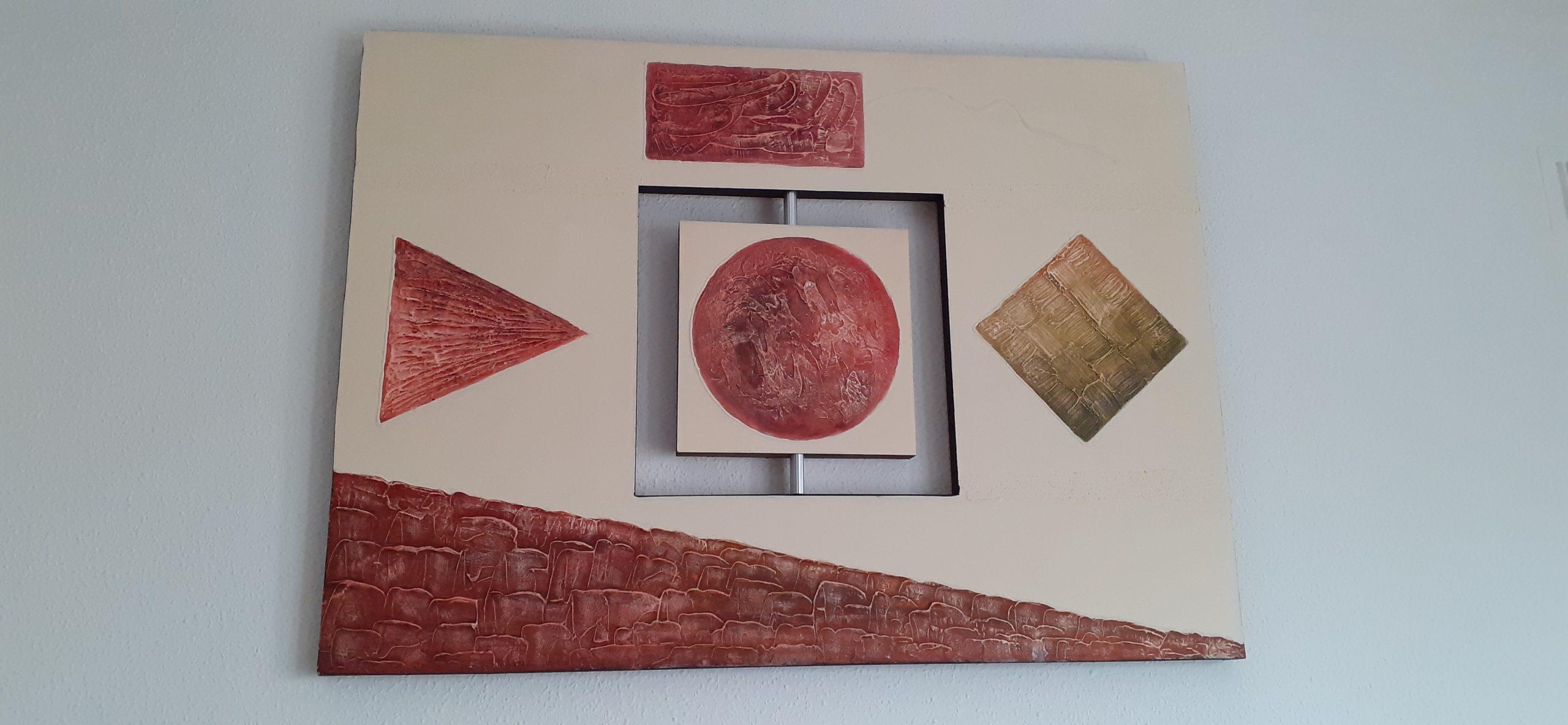 Cuadro con formas geométricas